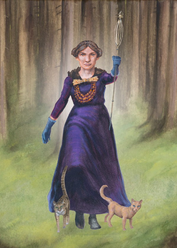 Freyja is a goddess of fertility. She is the daughter of Njord and has a twin brother Freyr.