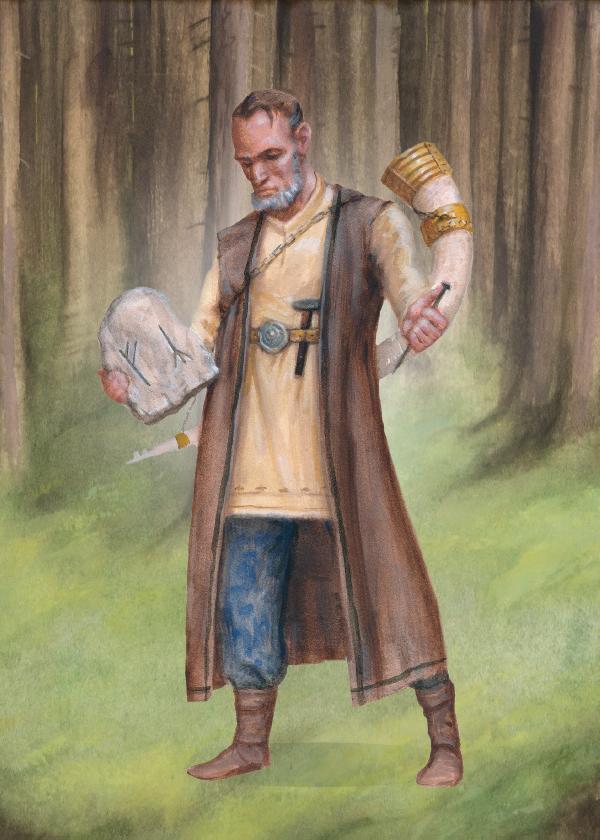 Guden Heimdall, människornas stamfader.