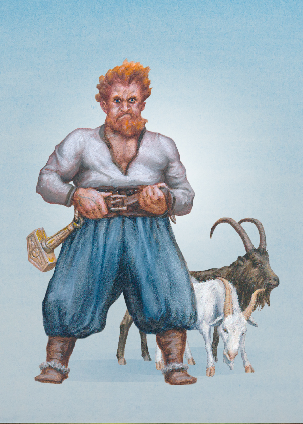 Thor the thunder-god is also the god of farmers and free people.
