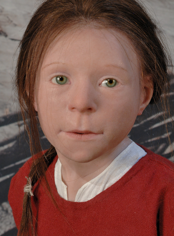 The Birka girl, reconstruction from 2011.